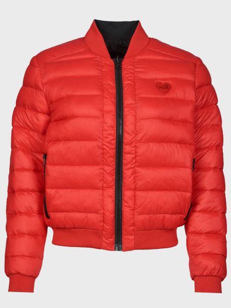 Красная куртка двусторонняя на молнии Love Moschino