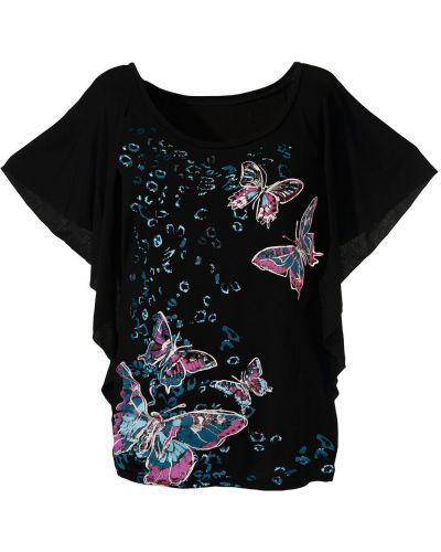 Блузка летучая мышь с рисунком Bonprix