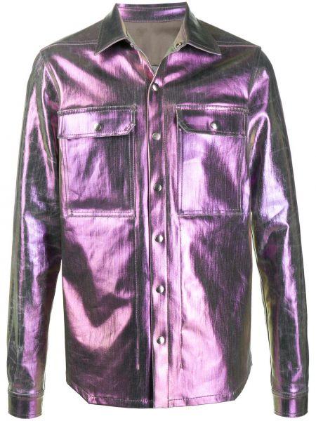 Koszula z długim rękawem karmazynowy fioletowy Rick Owens