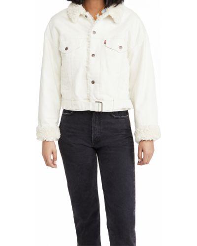 Хлопковая ватная длинная куртка с поясом Levi's®