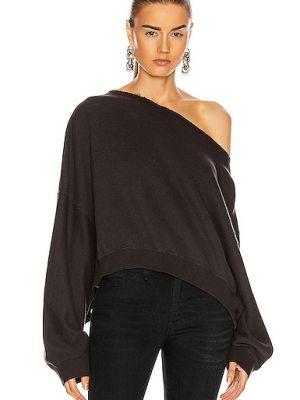 Czarna bluza dresowa bawełniana vintage R13