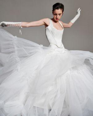 Ажурная юбка макси из фатина Vivienne Westwood