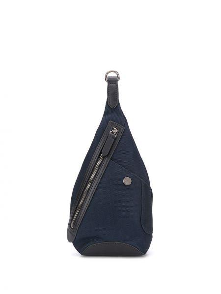 Нейлоновый синий рюкзак с карманами на молнии Mismo