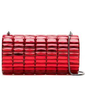 Красная сумка металлическая Isla