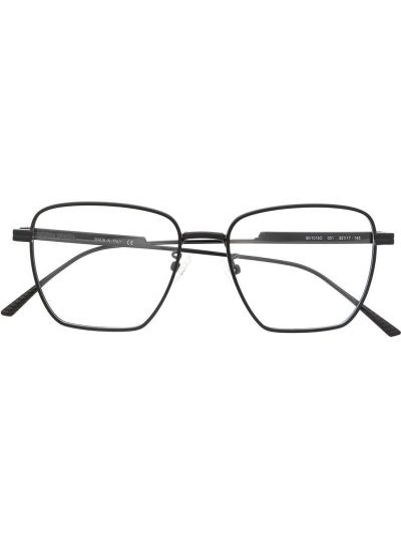 Черные очки квадратные металлические прозрачные Bottega Veneta Eyewear