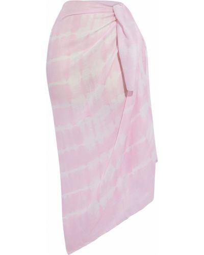 Różowy pareo w paski Solid & Striped