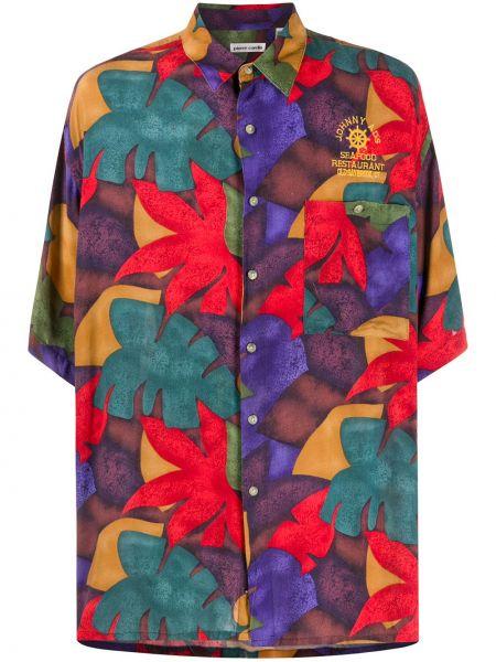 Классическая рубашка с короткими рукавами с воротником на пуговицах с карманами Pierre Cardin Pre-owned