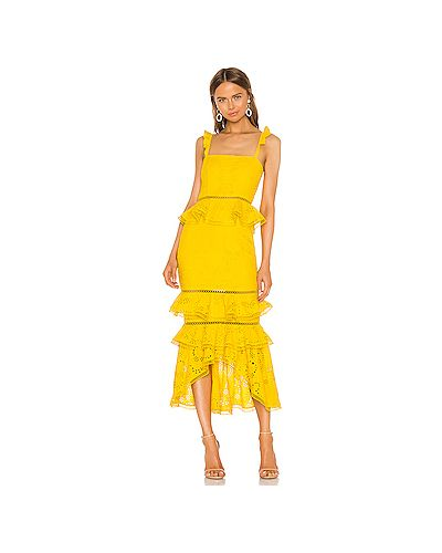 Платье миди с баской с вышивкой X By Nbd