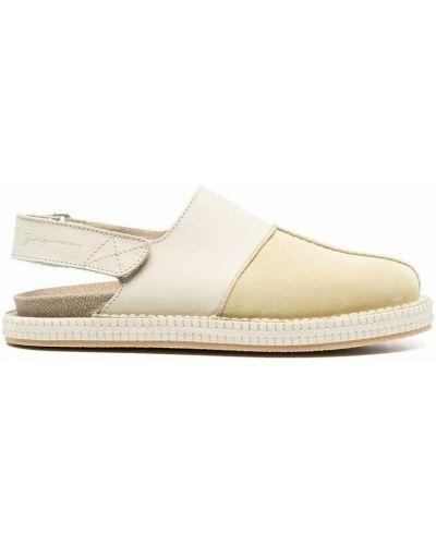 Sandały skórzane - beżowe Jacquemus