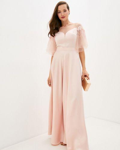 Розовое вечернее платье Seam