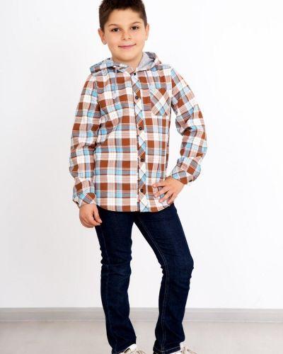 Хлопковая классическая рубашка в клетку с капюшоном Lika Dress
