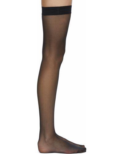 Черные нейлоновые носки Wolford