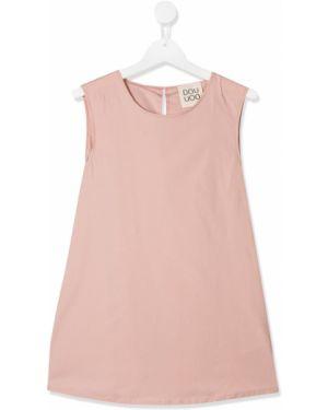 Хлопковая розовая блузка с вырезом Douuod Kids