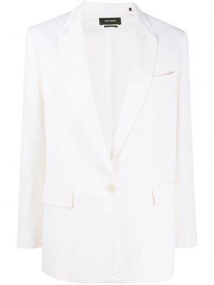 Шерстяной белый пиджак с карманами Isabel Marant