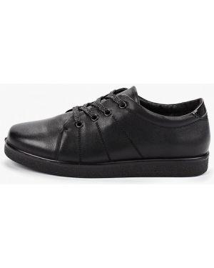 Кожаные ботинки осенние черные Kari