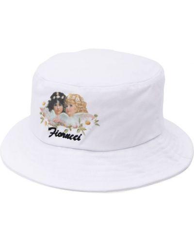Белая панама круглая узкого кроя Fiorucci