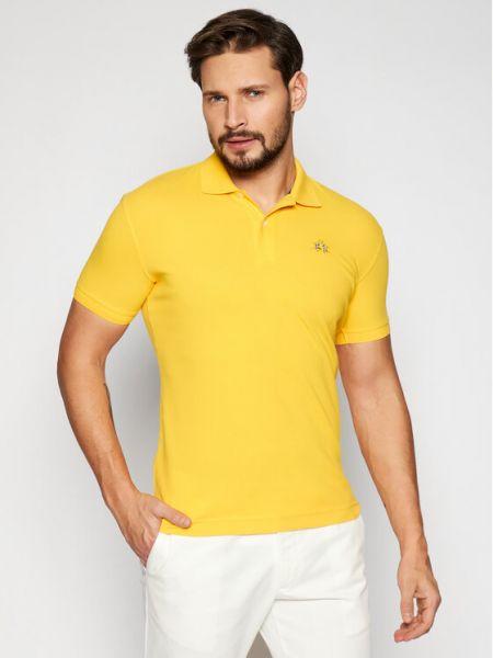 Żółte polo La Martina