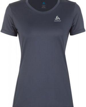 Футбольная прямая серая спортивная футболка для бега Odlo