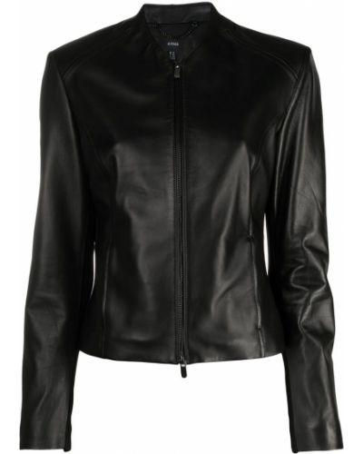 Черная кожаная куртка Arma