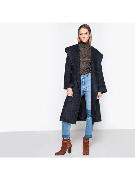 Пальто с капюшоном длинное на кнопках La Redoute Collections