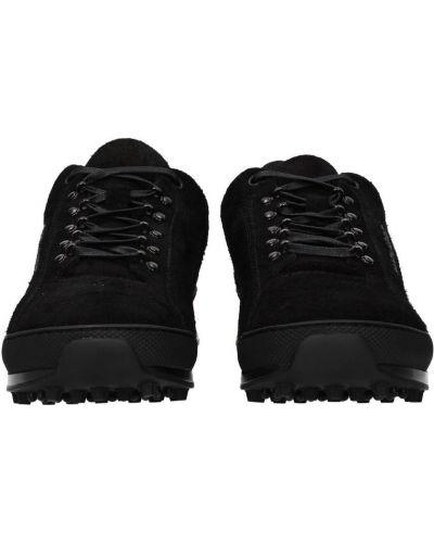 Czarne sneakersy materiałowe płaska podeszwa Saint Laurent