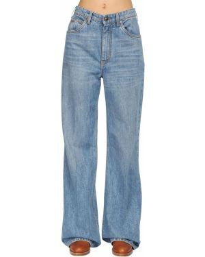 Расклешенные джинсы свободные с вышивкой Etro