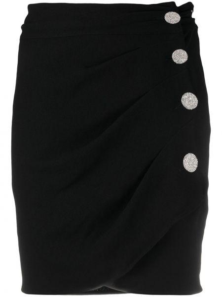 Асимметричная черная юбка мини Ba&sh