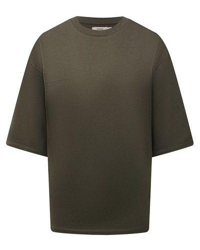 Хлопковая футболка - хаки Pangaia