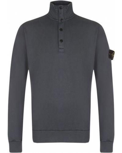 Серый свитер с воротником-стойкой Stone Island