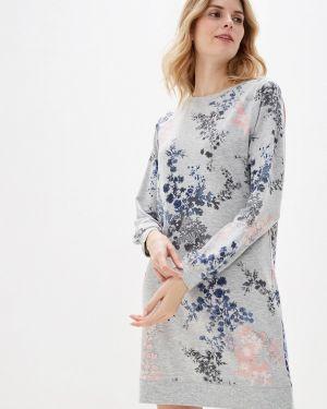 Платье серое осеннее Marks & Spencer