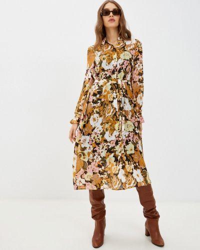 Платье рубашка - коричневое Ichi