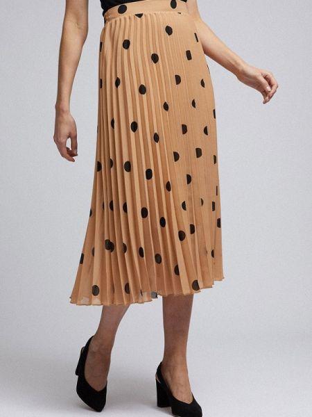 Плиссированная юбка бежевый весенняя Dorothy Perkins