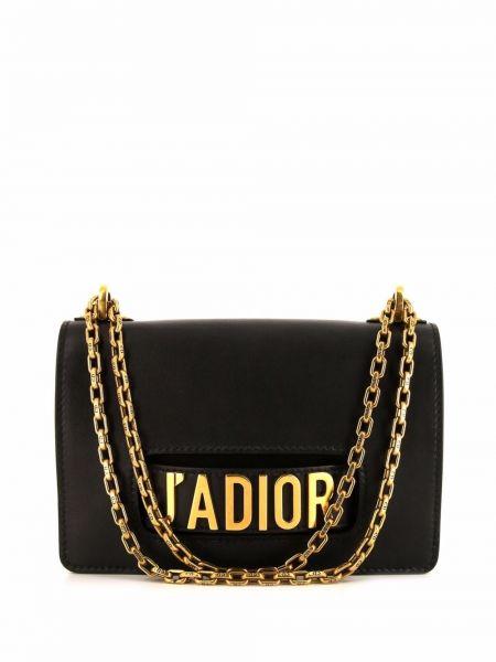 Czarna złota torebka Christian Dior