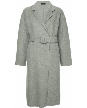 Однобортное шерстяное длинное пальто с капюшоном Loveless