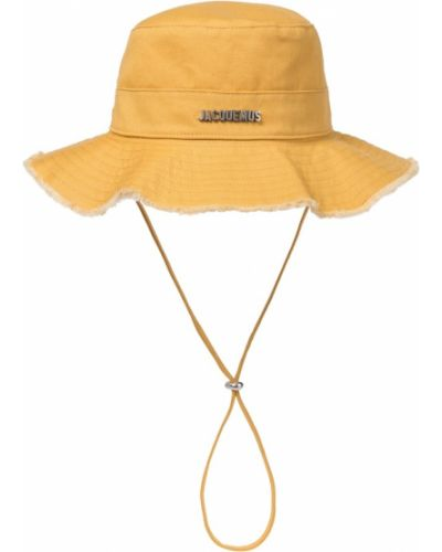 Ватная хлопковая желтая шапка Jacquemus