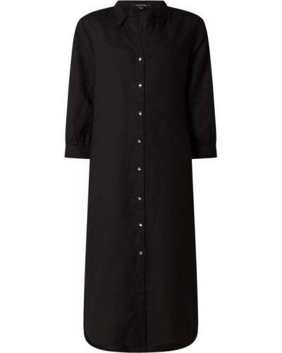 Czarna sukienka rozkloszowana z wiskozy Comma