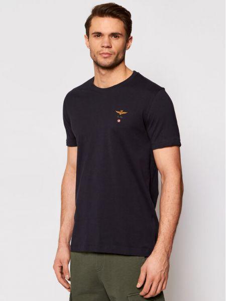 T-shirt granatowa Aeronautica Militare