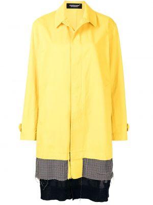 Желтое пальто классическое с воротником с потайной застежкой Undercover