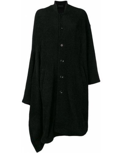 Накидка шерстяная черная Yohji Yamamoto