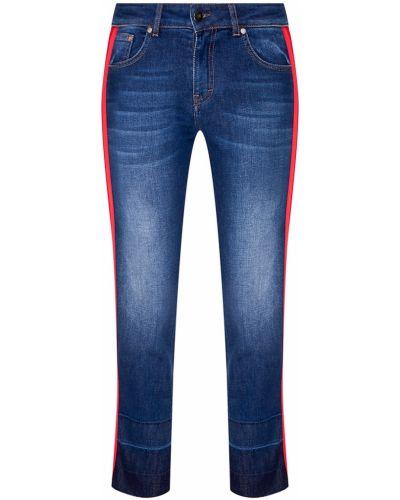 Прямые джинсы укороченные с эффектом потертости с лампасами Essentiel Antwerp