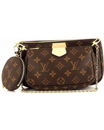 Коричневая сумка на плечо Louis Vuitton