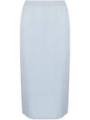 Niebieska spódnica z wysokim stanem Tibi