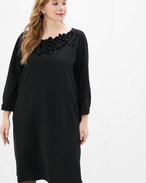 Повседневное платье осеннее черное Elena Miro