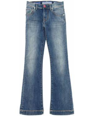 Расклешенные синие джинсы стрейч Jacob Cohen