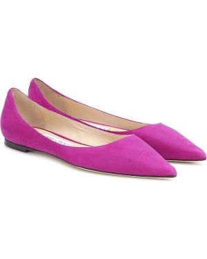 Фиолетовые балетки Jimmy Choo