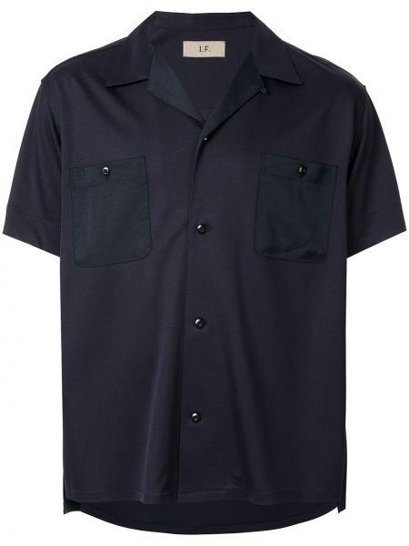 Klasyczna niebieska klasyczna koszula krótki rękaw Loveless