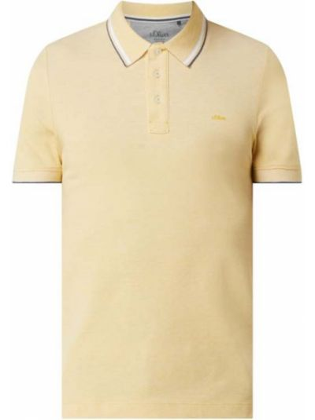 Żółty t-shirt bawełniany S.oliver Red Label