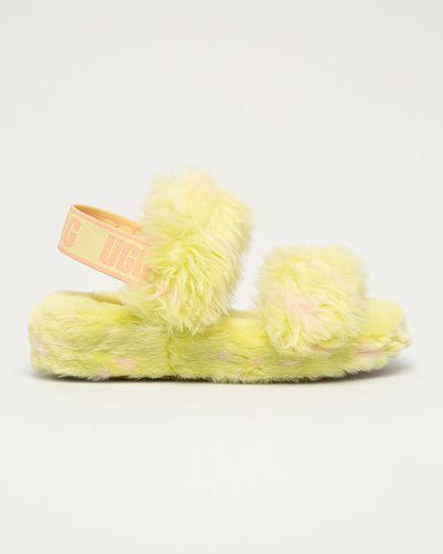 Kapcie skorzane - żółte Ugg