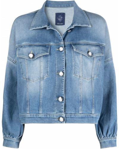 С рукавами синяя джинсовая куртка с воротником Jacob Cohen