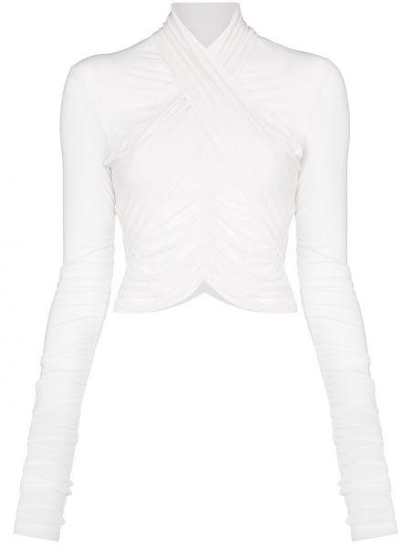 Блузка с длинным рукавом с запахом с рюшами Unravel Project